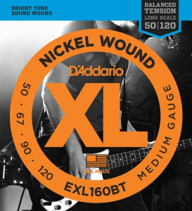 Струны для бас-гитары D'Addario EXL160BT Balanced Tension Medium Nickel Wound