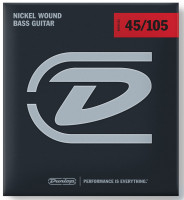 ​Струны для бас-гитары Dunlop DBN45105 Nickel Plated Steel 45-105