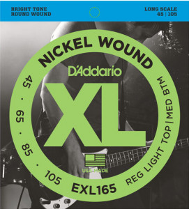Струны для бас-гитары D'Addario EXL165 Custom Light Nickel Wound 45-105