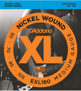 Струны для бас-гитары D'Addario EXL160 Medium Nickel Wound Long Scale 50-105