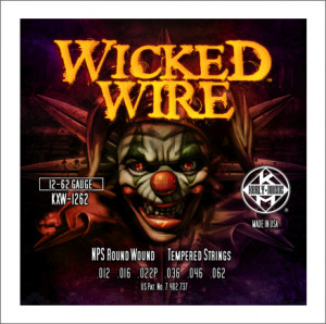 ​Струны для электрогитары Kerly KXW-1262 Wicked Wire Roundwound 12-62