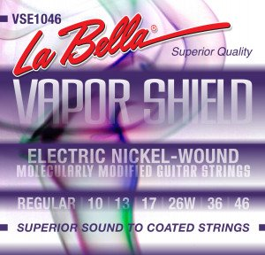 ​Струны для электрогитары La Bella VSE1046 Vapor Shield Electric Regular 10-46