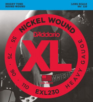 Струны для бас-гитары D'Addario EXL230 Nickel Wound Bass Heavy 55-110