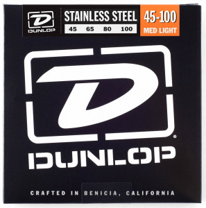 ​Струны для бас-гитары Dunlop 45-100 Stainless Steel Bass DBS45100