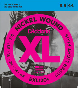 ​Струны для электрогитары D'Addario EXL120+ Nickel Wound Super Light Plus 9,5-44