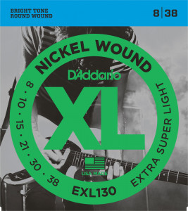 ​Струны для электрогитары D'Addario EXL130 Nickel Wound Extra Super Light 8-38